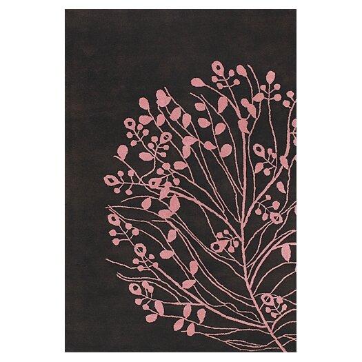 Chandra Rugs Dharma Brown/Pink Area Rug