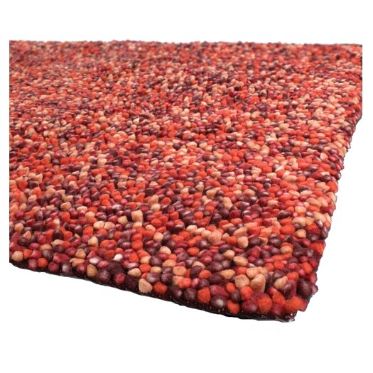 Chandra Rugs Gems Red/Orange Area Rug