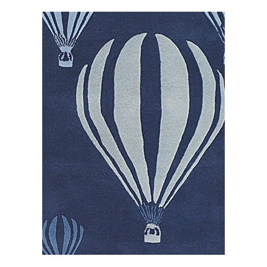 Chandra Rugs Kids Balloon White/Blue Area Rug