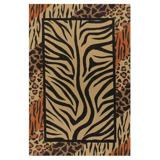 Chandra Rugs Safari Brown/Black Area Rug