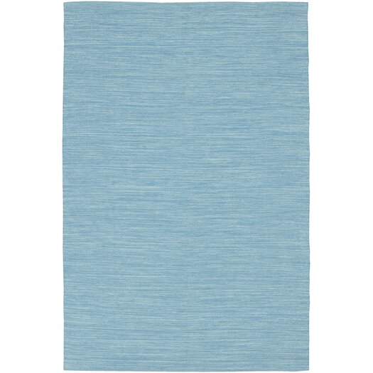 Chandra Rugs India Blue Solid Area Rug