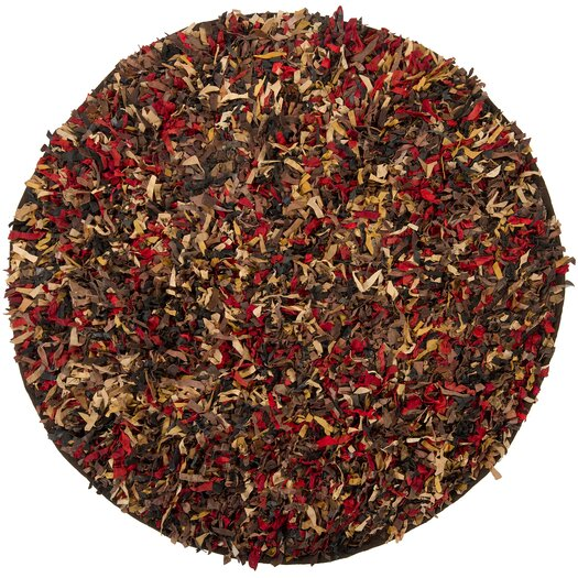 Chandra Rugs Art Brown/Red Area Rug
