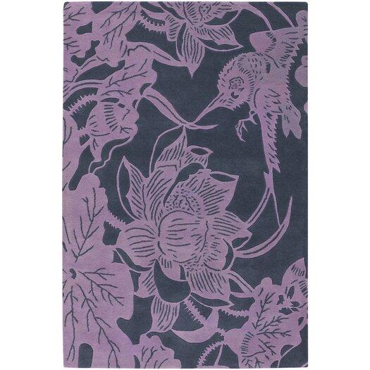 Chandra Rugs Counterfeit Contemporary Designer Violet Area Rug