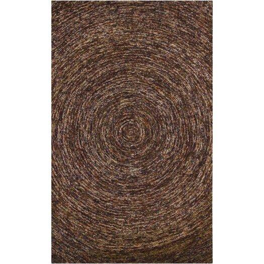 Chandra Rugs Galaxy Dark Brown Area Rug