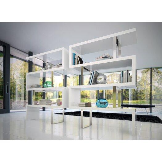 "Modloft Pearl 66"" Cube Unit Bookcase"