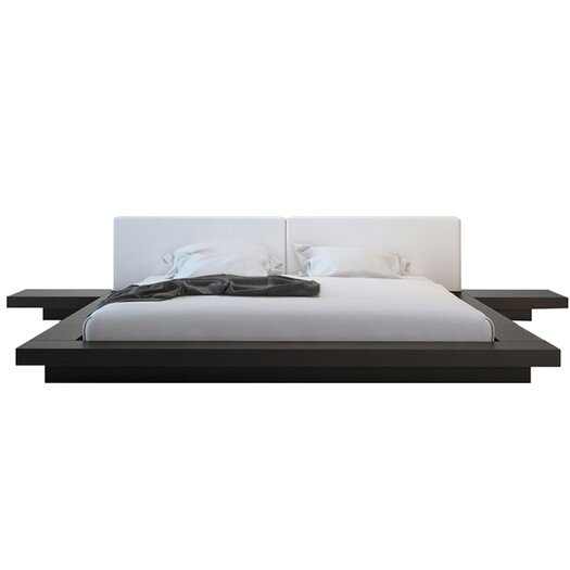 Modloft worth upholstered platform bed allmodern - Modloft worth platform bed king ...