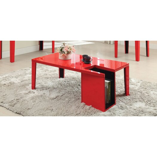 Hokku Designs Zedd Coffee Table & Magazine Rack