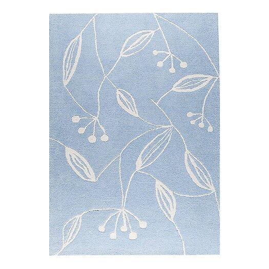 Hokku Designs Mat The Basics Blossom Blue Area Rug