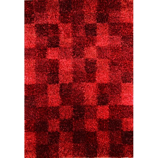 Hokku Designs Madrian Wine Shag Area Rug