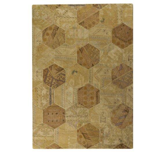 Hokku Designs Honey Comb Siena Light Beige Geometric Area Rug