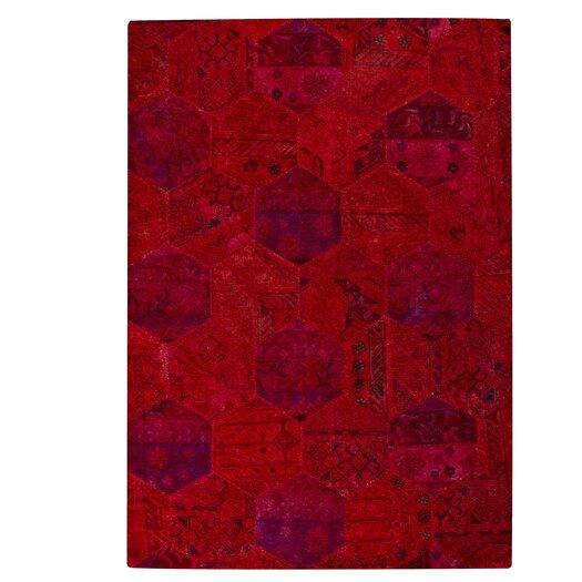 Hokku Designs Honey Comb Siena Red Area Rug