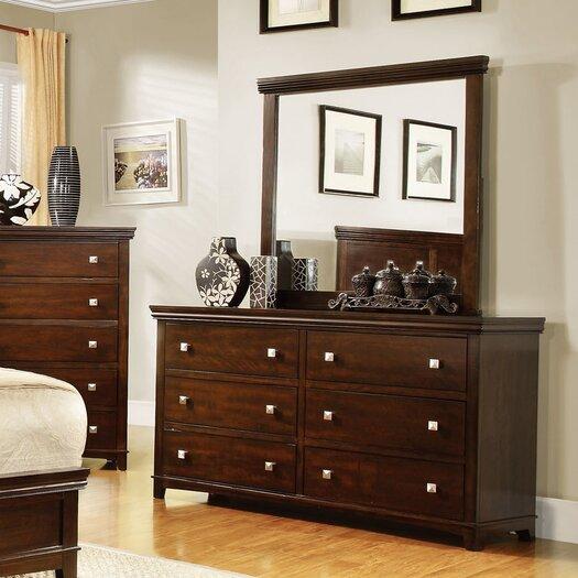 Hokku Designs Bellwood 6 Drawer Dresser with Mirror
