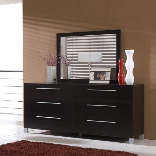 Hokku Designs Lexington 6 Drawer Dresser with Mirror