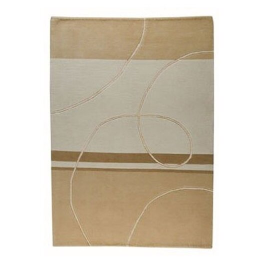 Hokku Designs Mat The Basics Flow Beige Area Rug