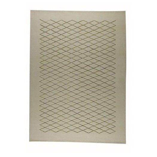 Hokku Designs Mat The Basics Rhodos White/Beige Area Rug