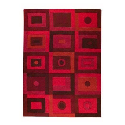 Hokku Designs Mat The Basics Berlin Red Area Rug