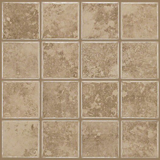 "Shaw Floors Colonnade 3"" x 3"" Ceramic Mosaic Tile in Coffee"