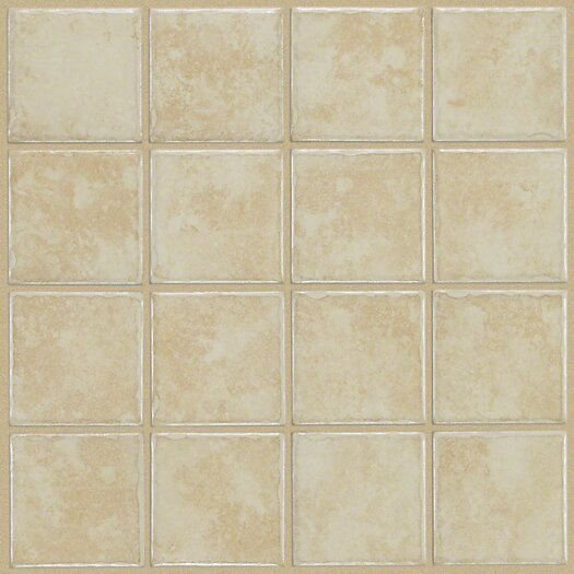 """Shaw Floors Colonnade 3"""" x 3"""" Ceramic Field Tile in White"""