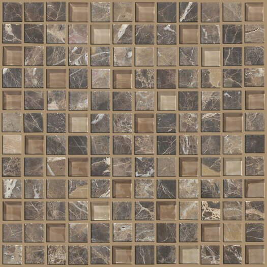 "Shaw Floors Mixed Up 1"" x 1"" Marble Mosaic Tile in Dakota"