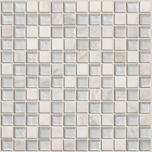 """Shaw Floors Mixed Up 1"""" x 1"""" Natural Stone Mosaic Tile in Snow Peak"""