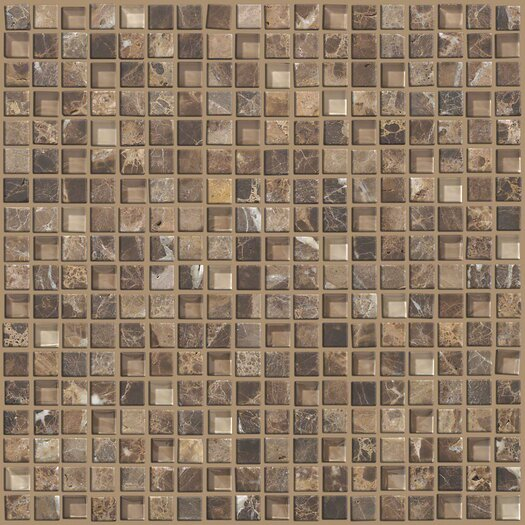 "Shaw Floors Mixed Up 0.625"" x 0.625"" Marble Mosaic Tile in Dakota"