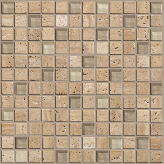"Shaw Floors Mixed Up 1"" x 1"" Porcelain Mosaic Tile in Dune"