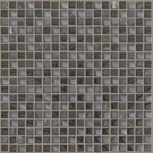 """Shaw Floors Mixed Up 0.625"""" x 0.625"""" Natural Stone Mosaic Tile in Black Hills"""