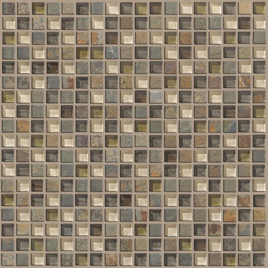 """Shaw Floors Mixed Up 0.625"""" x 0.625"""" Slate Mosaic Tile in Spring Valley"""