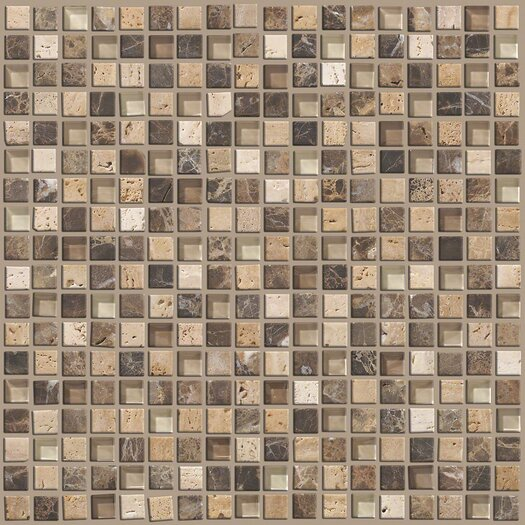 """Shaw Floors Mixed Up 0.625"""" x 0.625"""" Natural Stone Mosaic Tile in River Bed"""