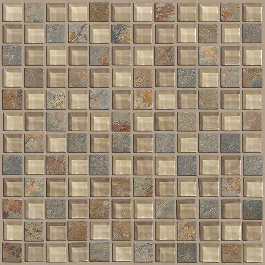 "Shaw Floors Mixed Up 1"" x 1"" Slate Mosaic Tile in Denali"