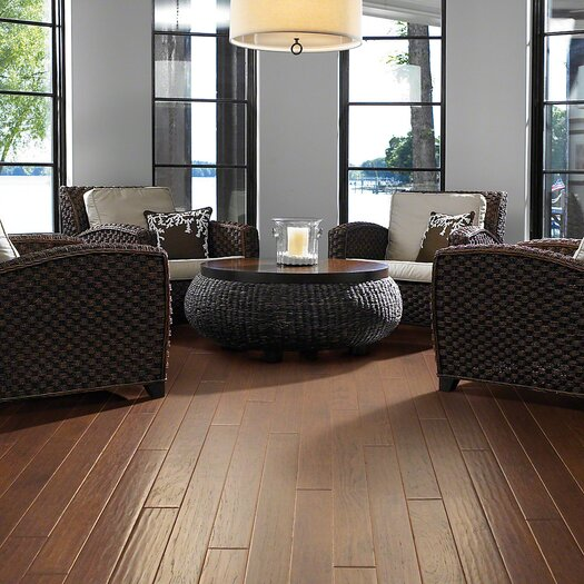"Shaw Floors Kingwood 5"" Engineered Hickory Hardwood Flooring in Thistle"