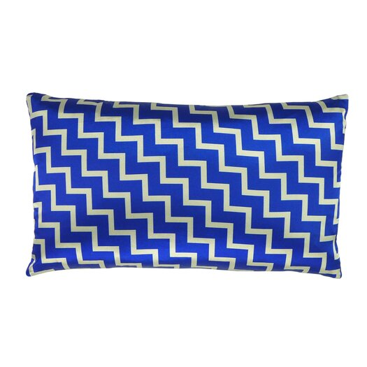 Stairs and Stripes Reversible Satin Lumbar Pillow