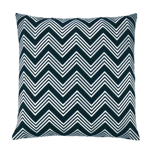 NECTARmodern Zigzag Chevron Embroidered Throw Pillow