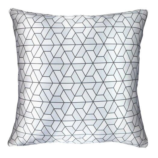Modern Printed Satin Throw Pillow
