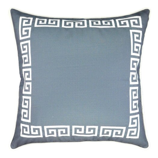 NECTARmodern Greek Key Embroidered Throw Pillow
