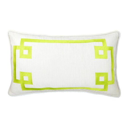 Deco Frame Embroidered Reversible Throw Pillow
