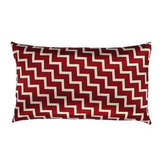 NECTARmodern Stairs and Stripes Zig Zag Chevron Satin Lumbar Pillow