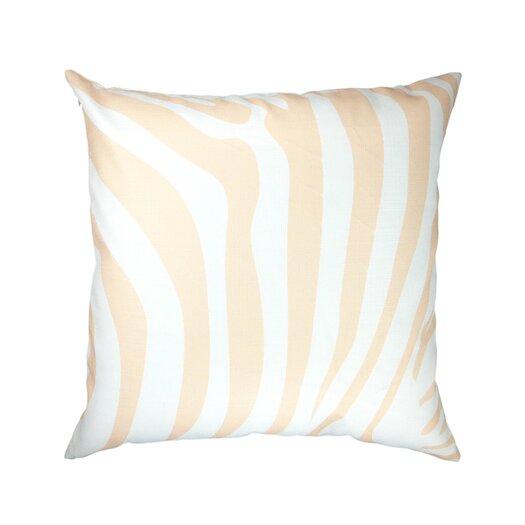 Animal Print Zebra/Leopard Peach Throw Pillow