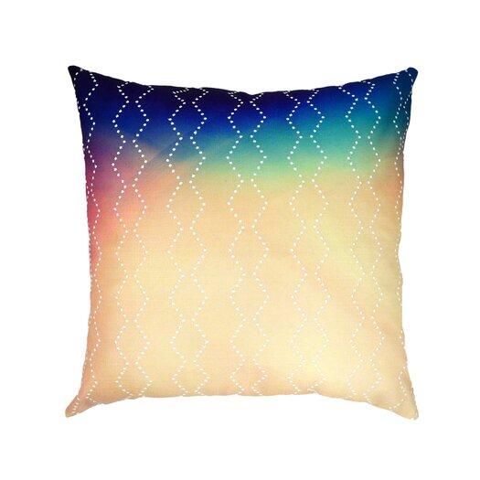 Diamond Sunset Embroidered Linen Throw Pillow