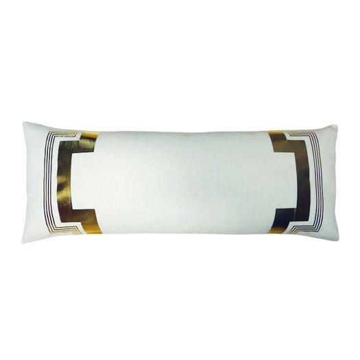 Embroidered Long Linen Lumbar Pillow