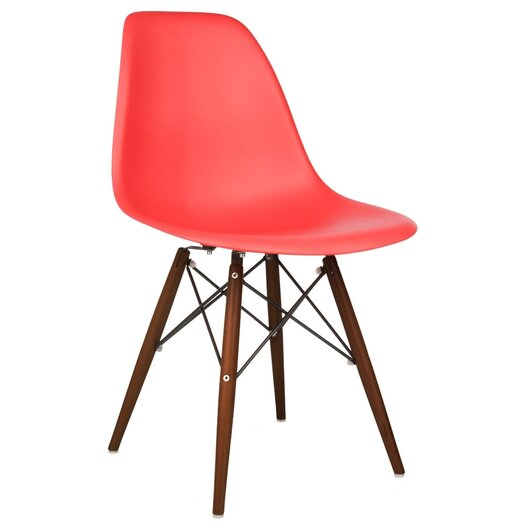 Modern Chairs for a kitchen Modern Chairs for a kitchen Set 2Bof 2B2 2BDSW 2BRed 2BMid 2BCentury 2BModern 2BDining 2BShell 2BChair 2BW 252F 2BDark 2BWalnut 2BWood 2BLegs