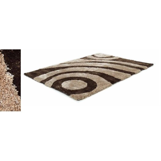 Two Tone Beige/Brown Area Rug