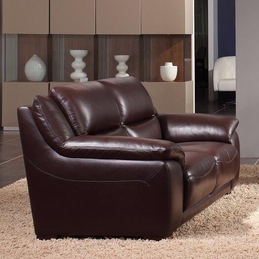 Creative Furniture Leroy Leather Sofa Allmodern