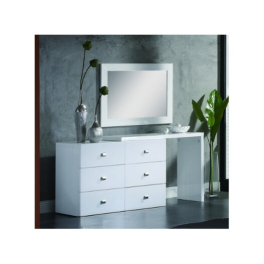 Scarlet 6 Drawer Dresser with Mirror