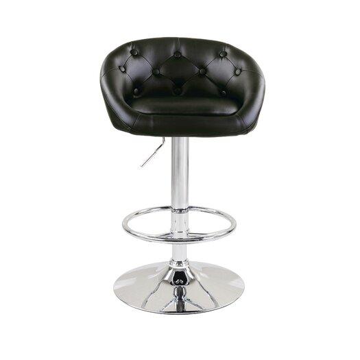 Milan Adjustable Height Swivel Bar Stool with Cushion (Set of 2)