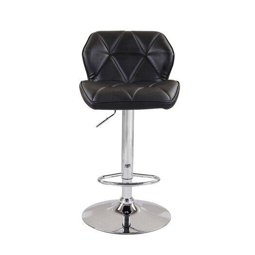 Diamond Adjustable Height Swivel Bar Stool with Cushion (Set of 2)