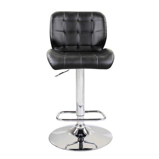 Dallas Adjustable Height Swivel Bar Stool with Cushion (Set of 2)