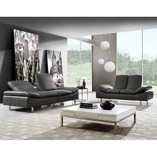 York 2 Piece Leather Living Room Set