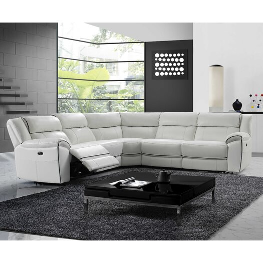 Dominic Leather Sectional with 2 Power Recliners
