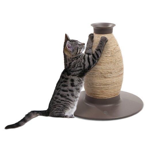 Catit by Hagen Catit Blow Molded Vase Corn-husk and Sisal Cat Scratching Post